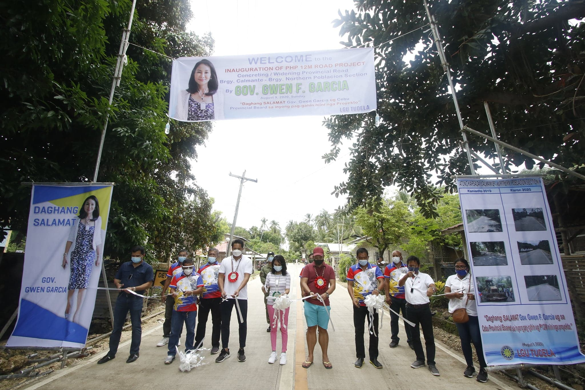 New improved brgy road in Tudela opens