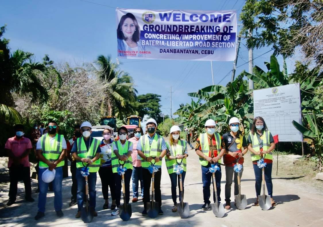 Capitol begins P182M worth of road projects in Cebu North